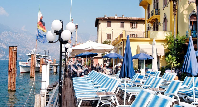 Hotel Malcesine, Malcesine, Lake Garda, Italy - lakeside Terrace Overview.jpg