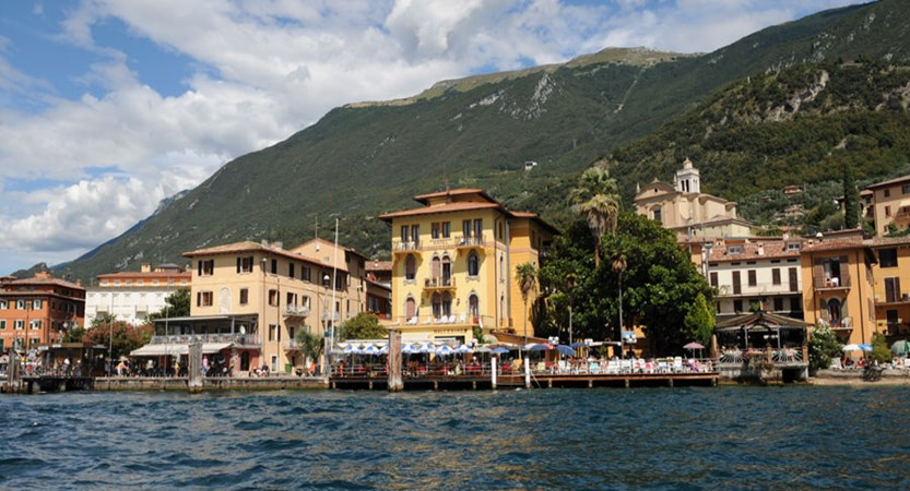 Hotel Malcesine, Malcesine, Lake Garda, Italy - view of hotel from lake.jpg
