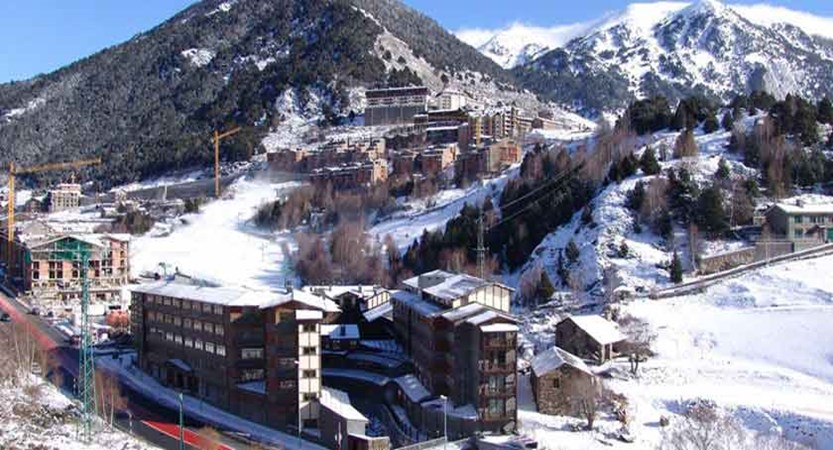 Exterior of hotel, with Soldeu and nursery slope in the background.jpg