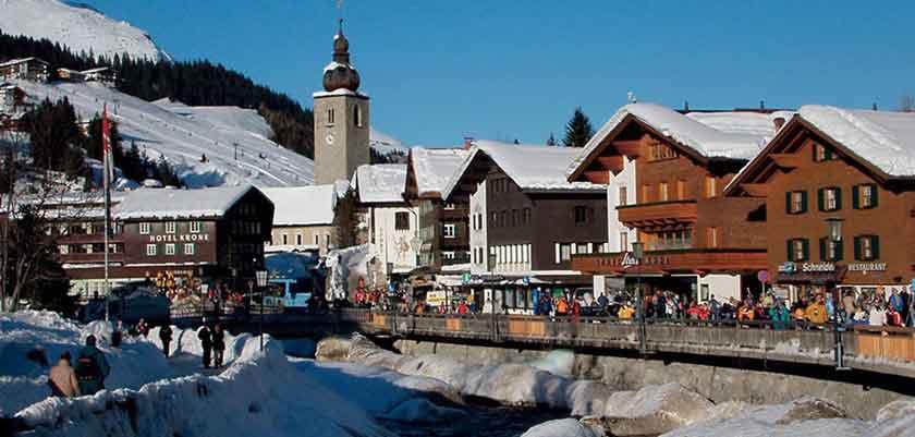 Lech, town view