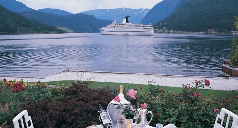 Brakanes Hotel, Ulvik, Norway - Dining on the terrace at the Brakan.jpg