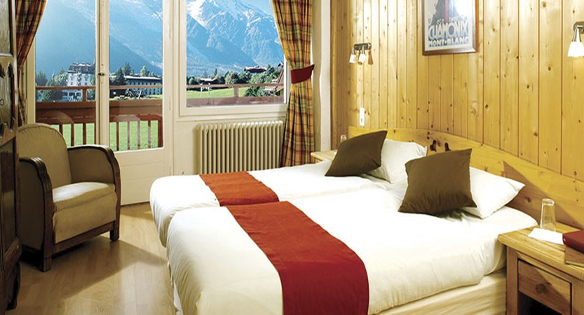 Chalet Hotel Sapinière, Chamonix, France - bedroom with a view.jpg