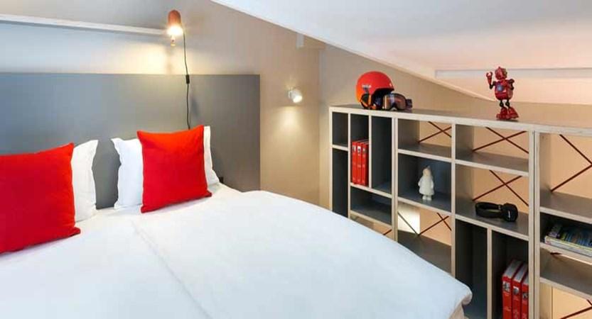 Hotel Rockypop, Chamonix, France - bedroom & mezzanine.jpg