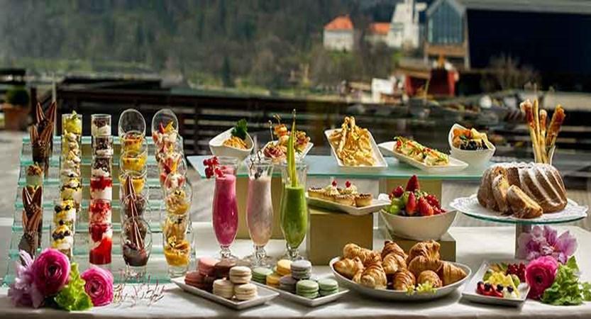 Hotel Kompas, Lake Bled, Slovenia - buffet on terrace.jpg