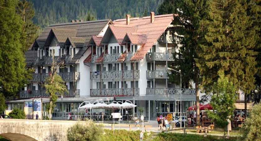 Hotel Jezero, Lake Bohinj, Slovenia - Hotel Jezero from the lake, Bohinj.jpg