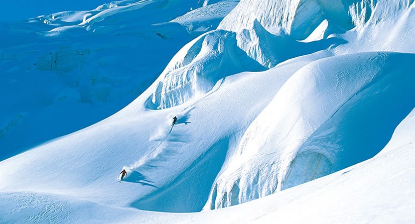 Skiers off - piste