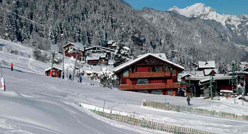 Chalet Matine slope view