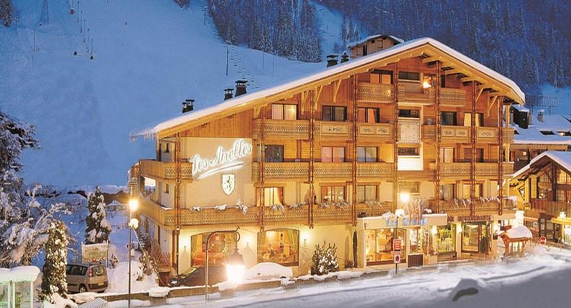 Hotel Les Airelles night exterior