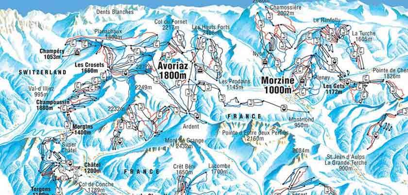 Ski holidays in portes du soleil ski area france 2018 2019 inghams - Plan piste porte du soleil ...