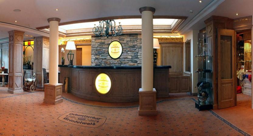 Romantik Hotel Schweizerhof, Grindelwald, Bernese Oberland, Switzerland - Reception & lobby.jpg