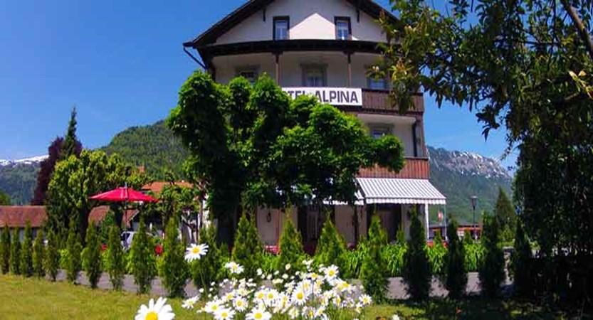Hotel Alpina, Interlaken, Bernese Oberland, Switzerland - exterior with garden.jpg
