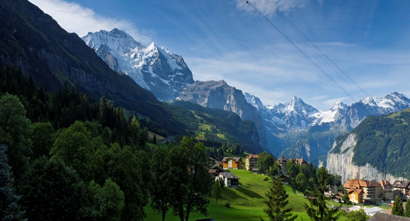 Beausite Park & Jungfrau Spa, Wengen, Bernese Oberland, Switzerland - Twin bedroom 'B2 Jungfrau View'.jpg
