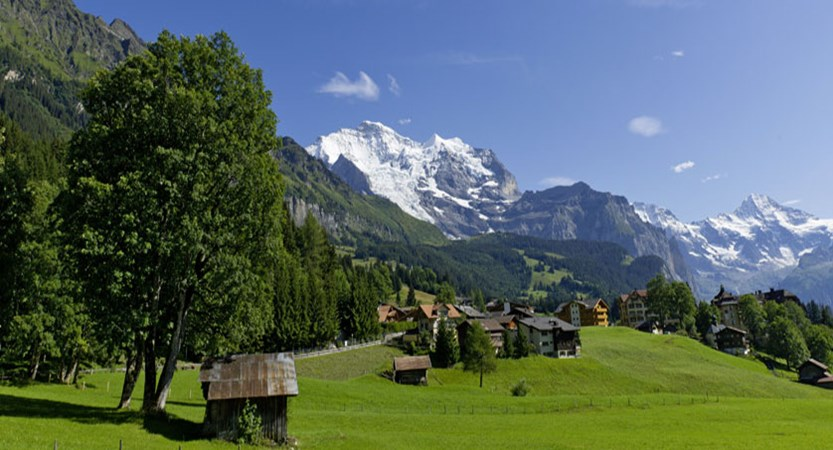 Beausite Park & Jungfrau Spa, Wengen, Bernese Oberland, Switzerland - view from the garden.jpg