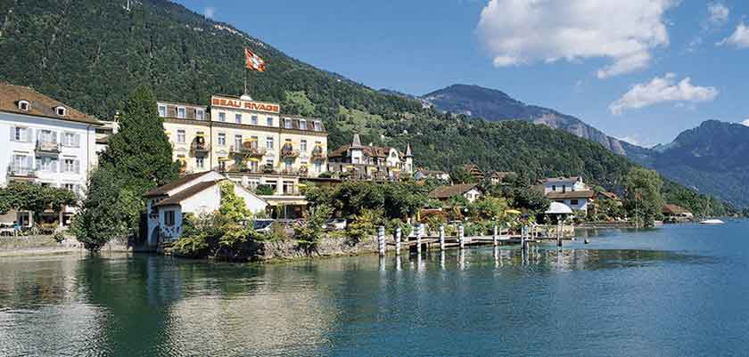 Hotel Beau Rivage, Weggis, Lake Lucerne, Switzerland - exterior with view of Lake Lucerne.jpg