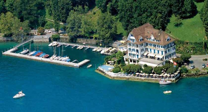 Hotel Central am See, Weggis, Lake Lucerne, Switzerland - aerial of the hotel.jpg