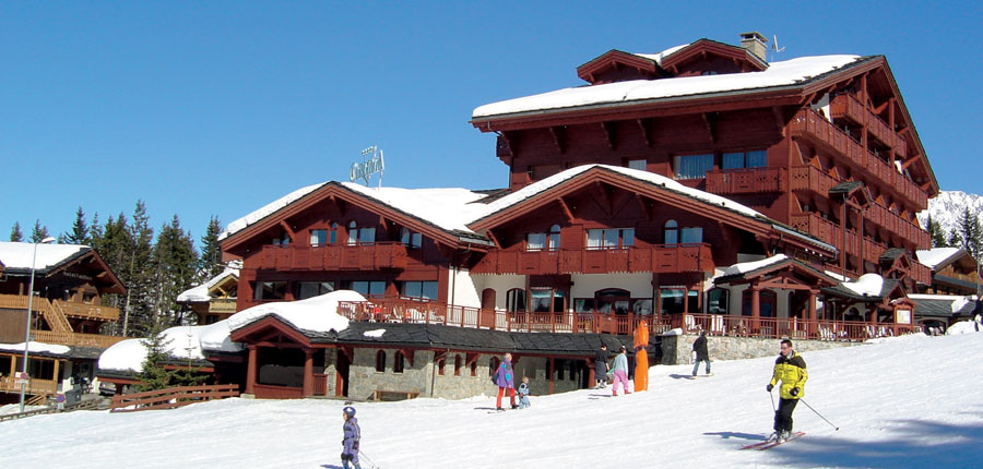 Hotel Carlina piste view 2
