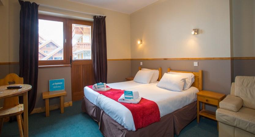 Chalet Hotel Les Grangettes bedroom