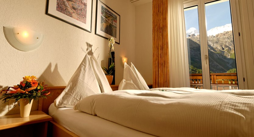 Hotel Park, Saas-Fee, Switzerland - Double bedroom with a view.jpg