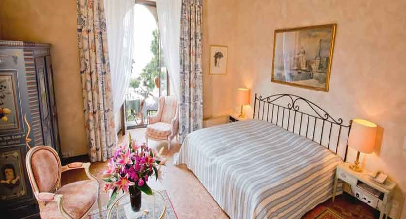 Romantik Hotel Castello Seeschloss, Ascona, Ticino, Switzerland - double bedroom with balcony.jpg