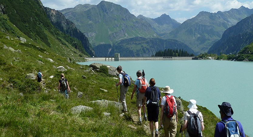 Ischgl, Austria - Walkers by the lake.jpg