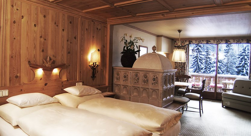 Hotel Berghof, Lech, Austria - bedroom interior with balcony.jpg