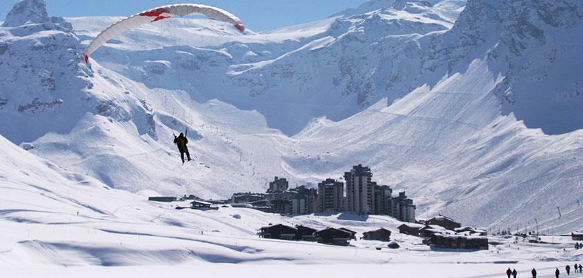 Paragliding over Tignes