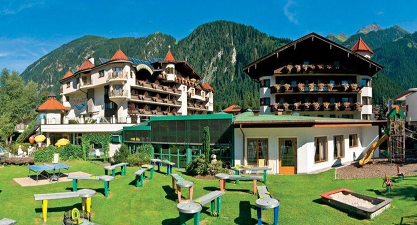 Sporthotel Strass, Mayrhofen, Austria - Exterior with crazy golf in the foreground.jpg