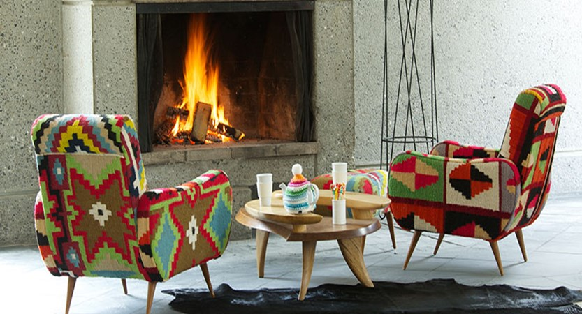 Hotel terminal neige - fireplace