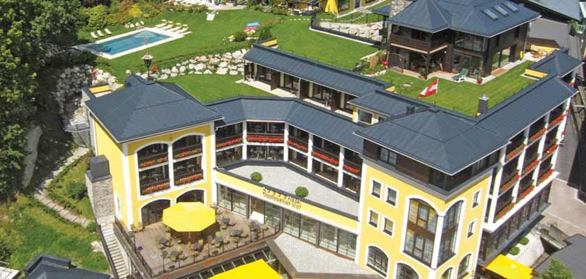 Hotel Saalbacherhof, Saalbach, Austria - aerial exterior.jpg