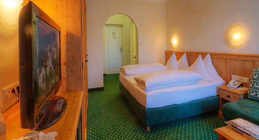 Krumers Post & Spa Hotel, Seefeld, Austria - double bedroom interior.jpg