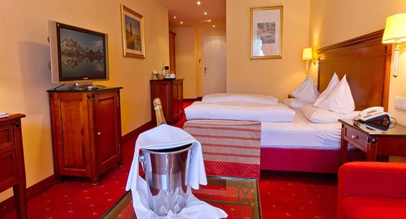 Krumers Post & Spa Hotel, Seefeld, Austria - double bedroom.jpg