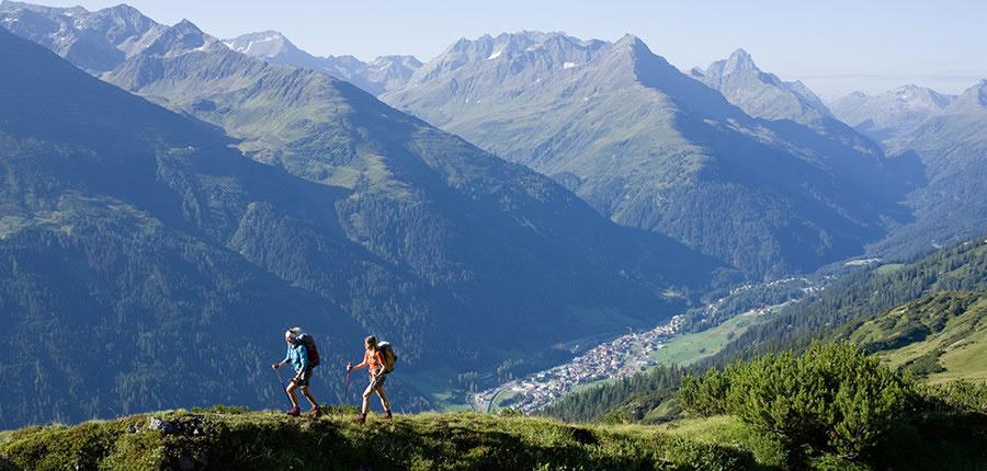 Walkers in St. Anton, Austria