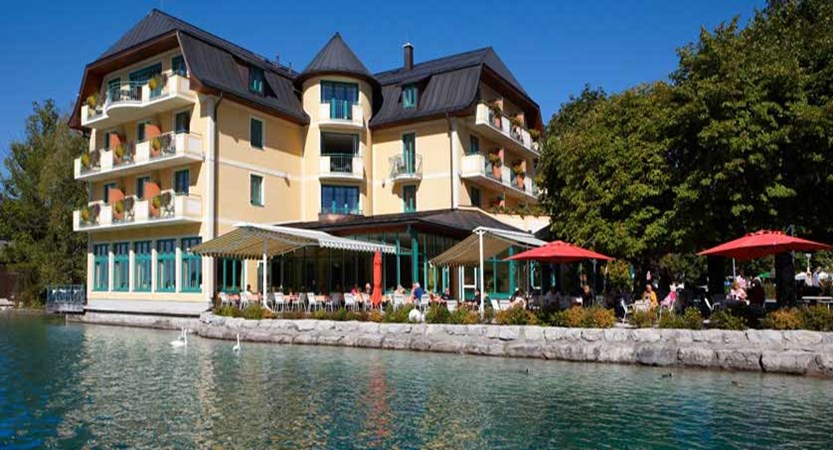 Hotel Seerose, Fuschl, Salzkammergut, Austria - Exterior on the lake.jpg