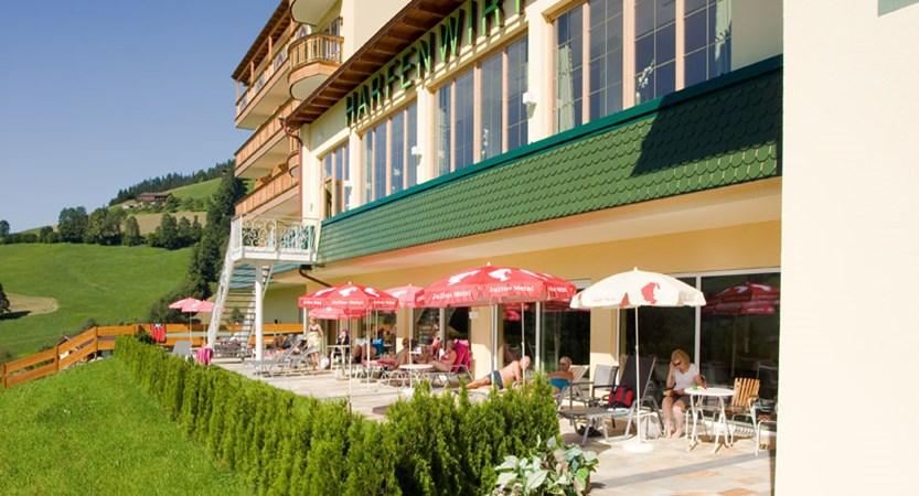 Hotel Harfenwirt, Niederau, The Wildschönau Valley, Austria - Terrace.jpg