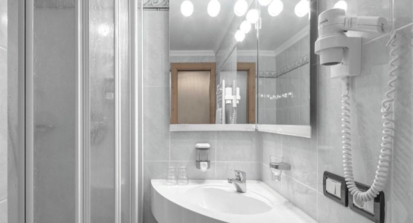 Garni Bracun Bathroom - Italy, Dolomites, Corvara