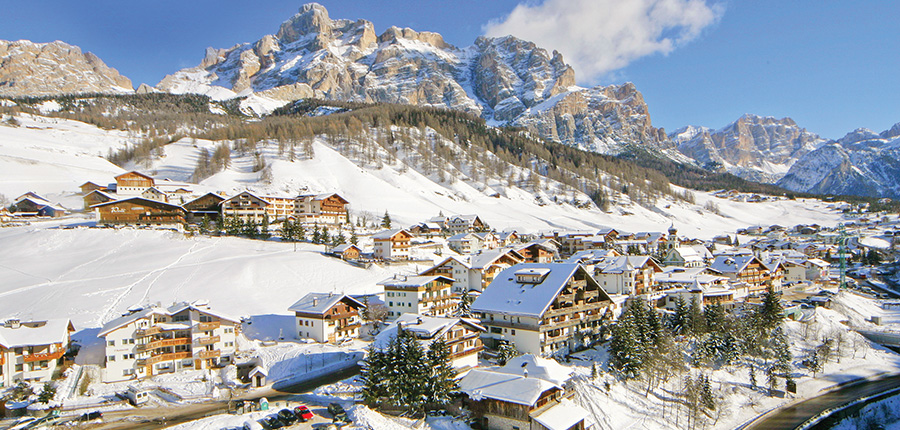 The resort centre of San Cassiano