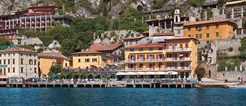 Hotel All'Azzurro, Limone, Lake Garda, Italy, exterior overlooking the lake.jpg