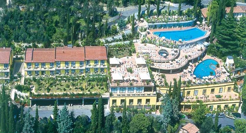 Hotel San Pietro, Limone, Lake Garda, Italy - Exterior aerial view.jpg