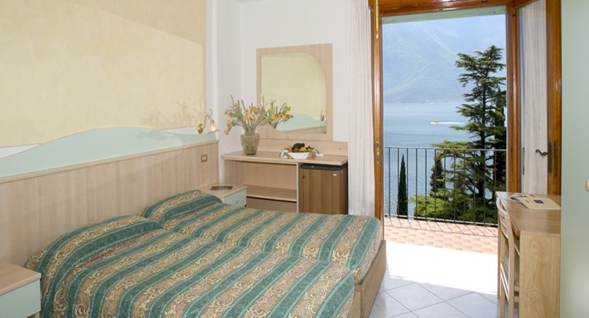 Hotel Villa Dirce, Limone, Lake Garda, Italy - Bedroom with balcony.jpg