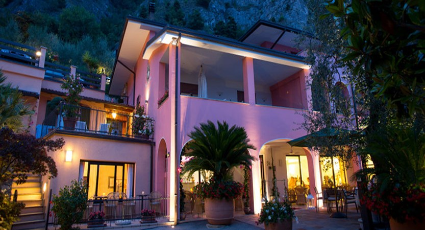 Villa La Gardenia & Oleandra, Limone, Lake Garda, Italy - exterior at night.jpg