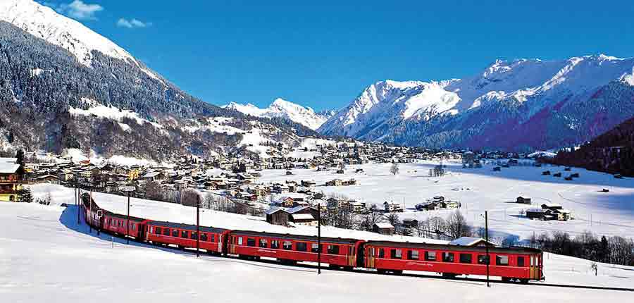 Klosters, Resort railway view