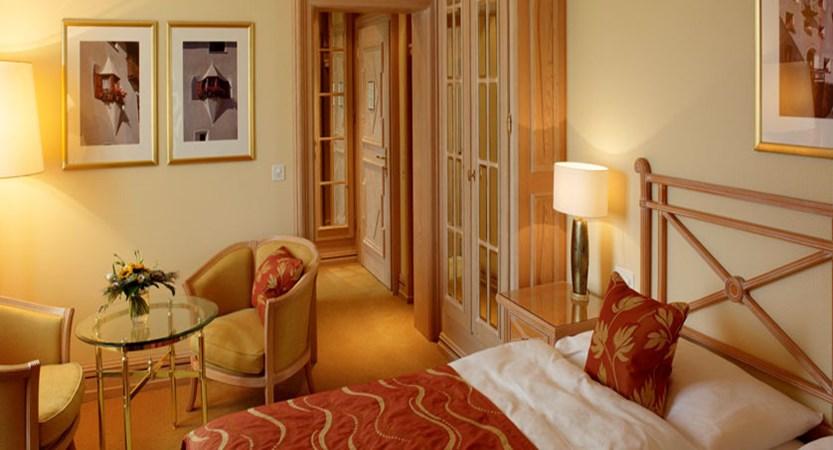 Hotel Kulm, St-Moritz, Switzerland - double bed bedroom