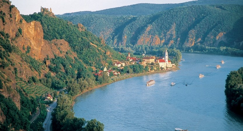 Wachau Valley in Austria, Lakes and Mountains