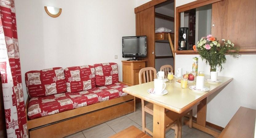 Hameau du borsat apartments living area