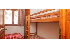 Val Claret Apartments, Bedroom with Bunk beds