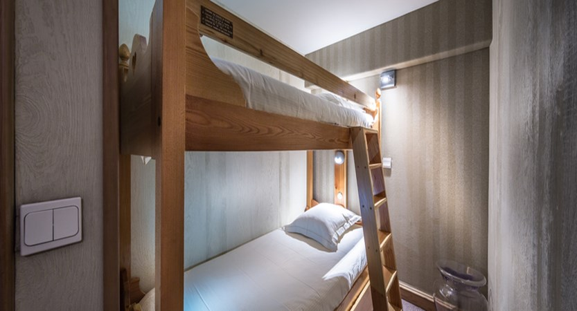 Bunk beds in the Larger Twin bedrooms