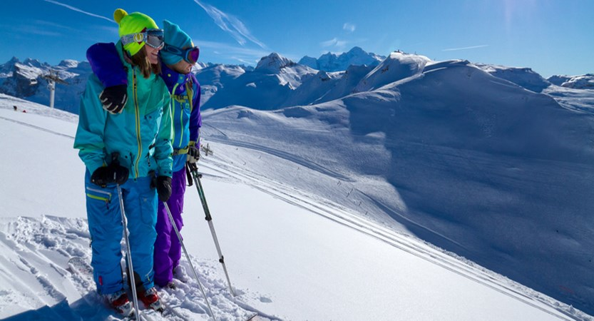 Skiers view
