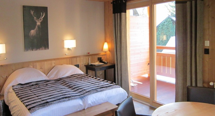 Typical style of room in the Lodge Le Grand Cerf