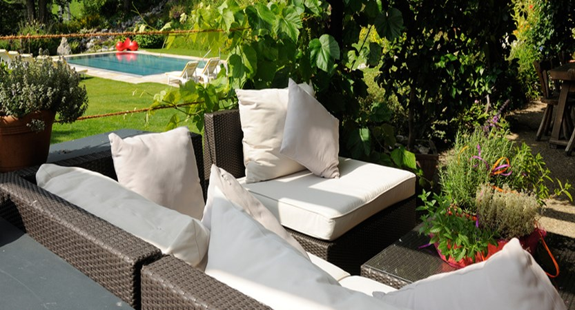Hotel Saalbacherhof, Saalbach, Austria garden lounge