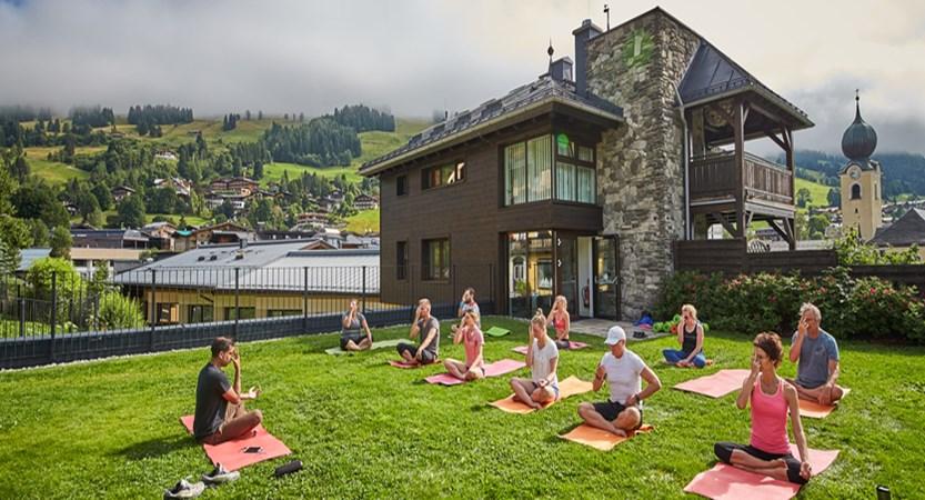 Hotel Saalbacherhof, Saalbach, Austria yoga